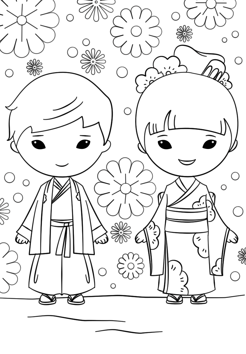 Japan coloring pages to download
