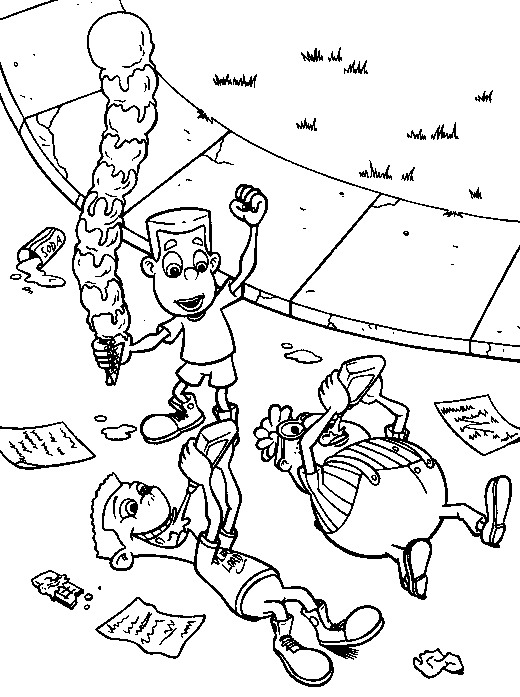 Jimmy Neutron coloring pages to
