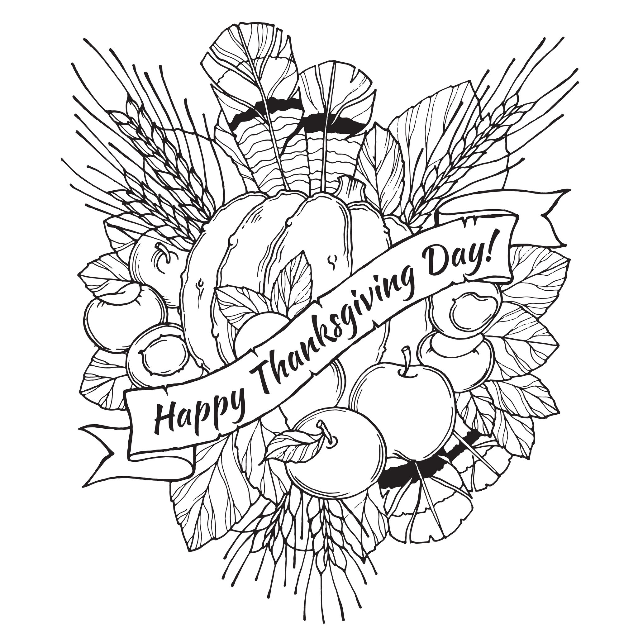 Thanksgiving Coloring Pages For Adults to and