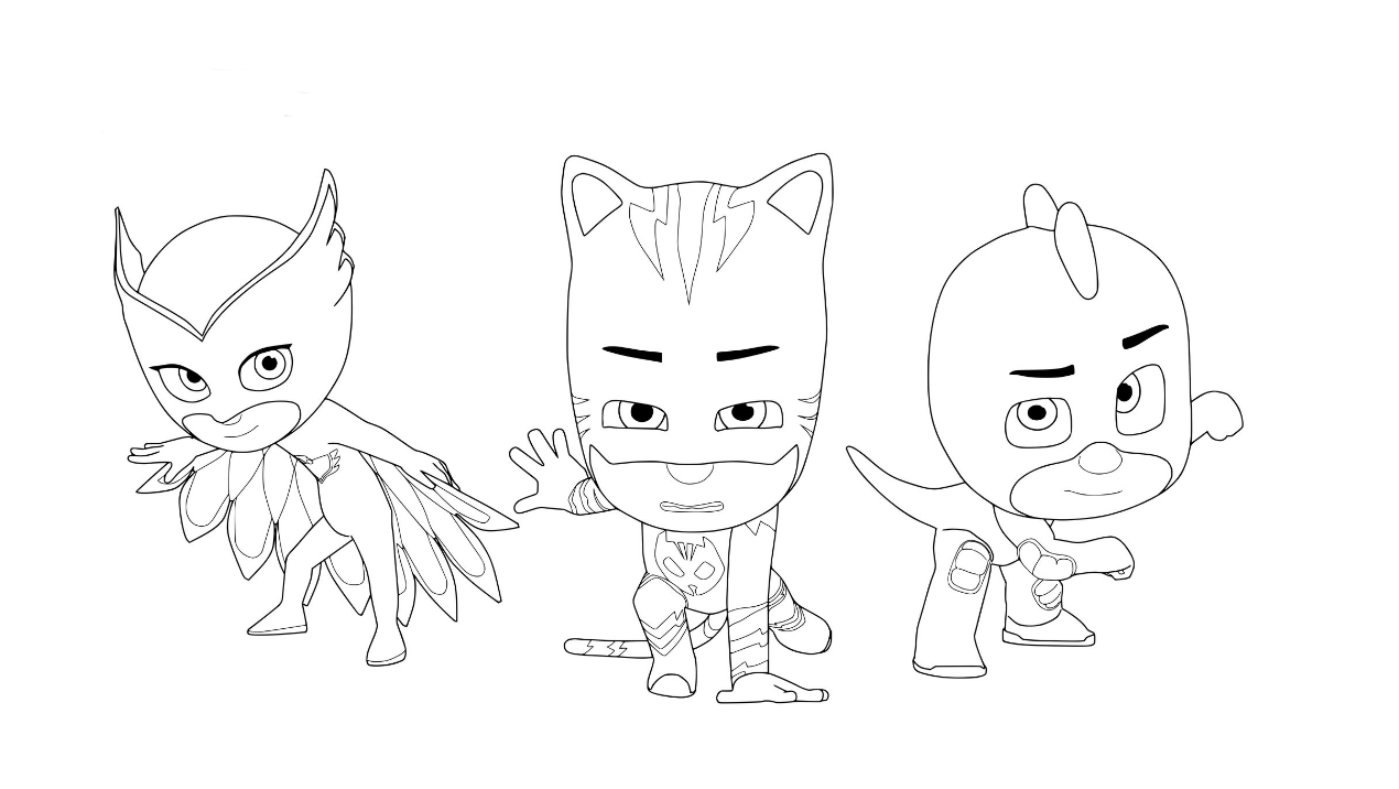 pj masks coloring pages - Pj Masks Coloring Pages