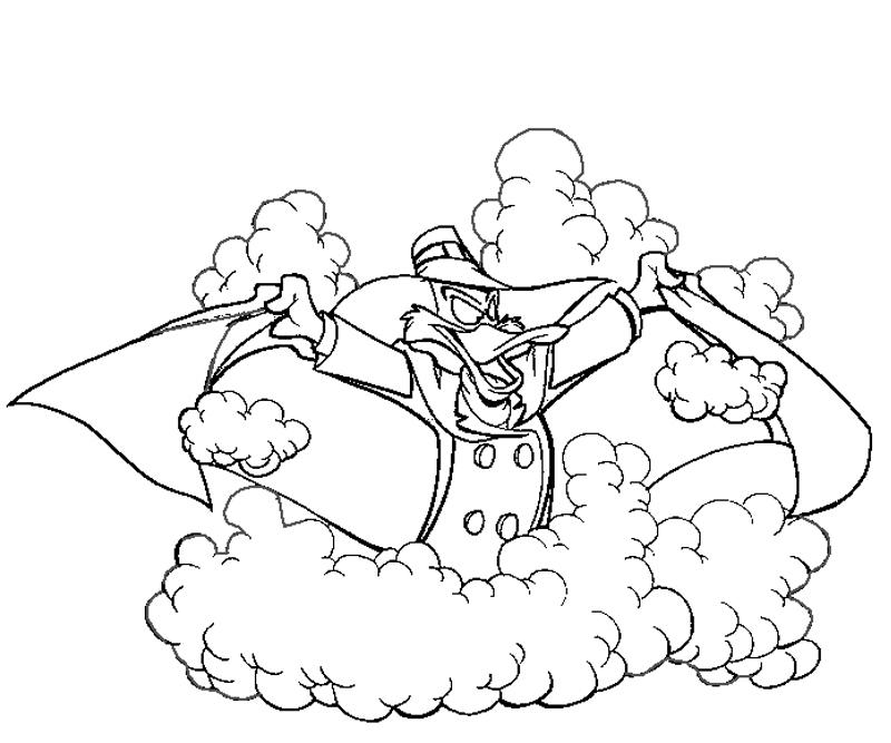 Darkwing Duck coloring pages to download and print for free