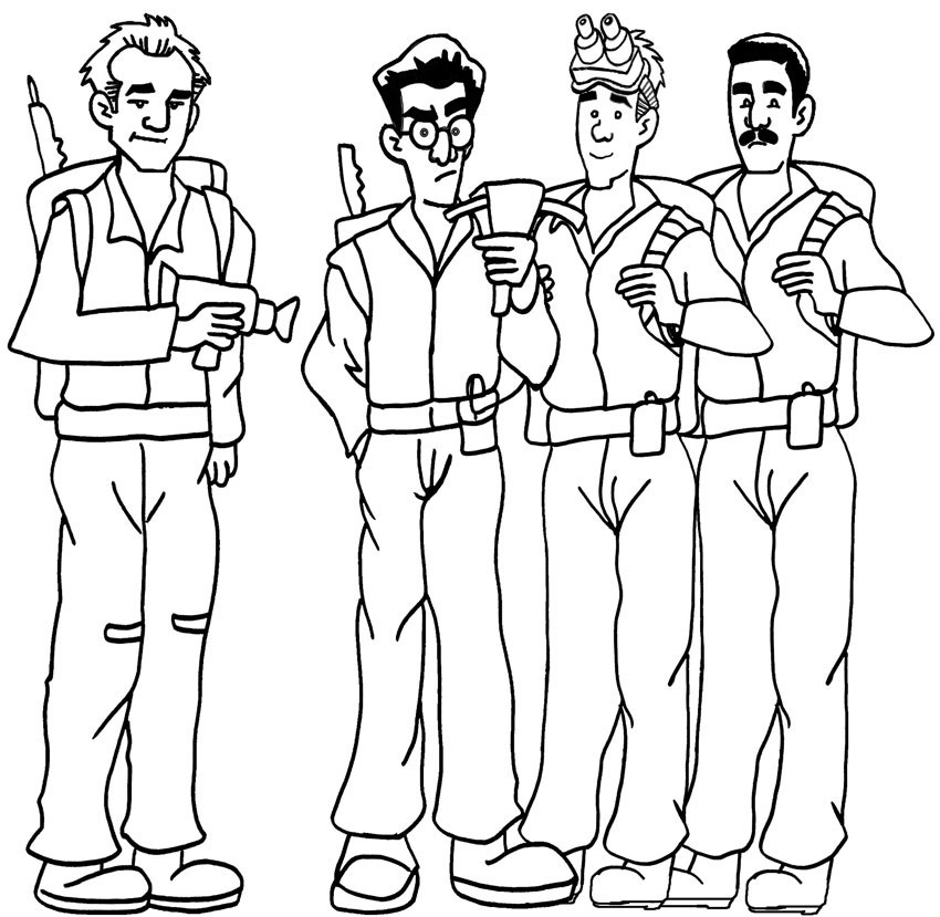 Ghostbusters coloring pages to download and print for free