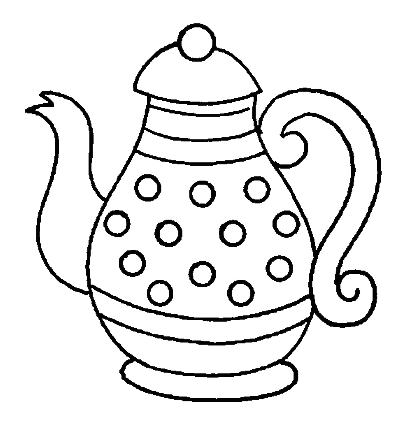 Kitchenware Coloring Pages for childrens printable for free