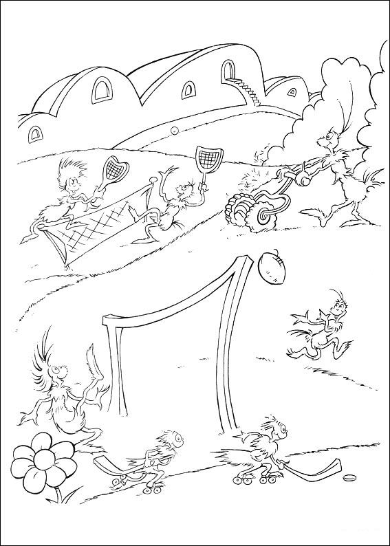 Horton coloring pages to download