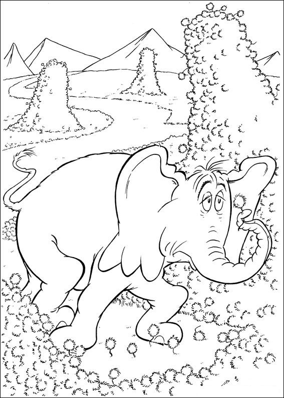 Horton coloring pages to download and print for free