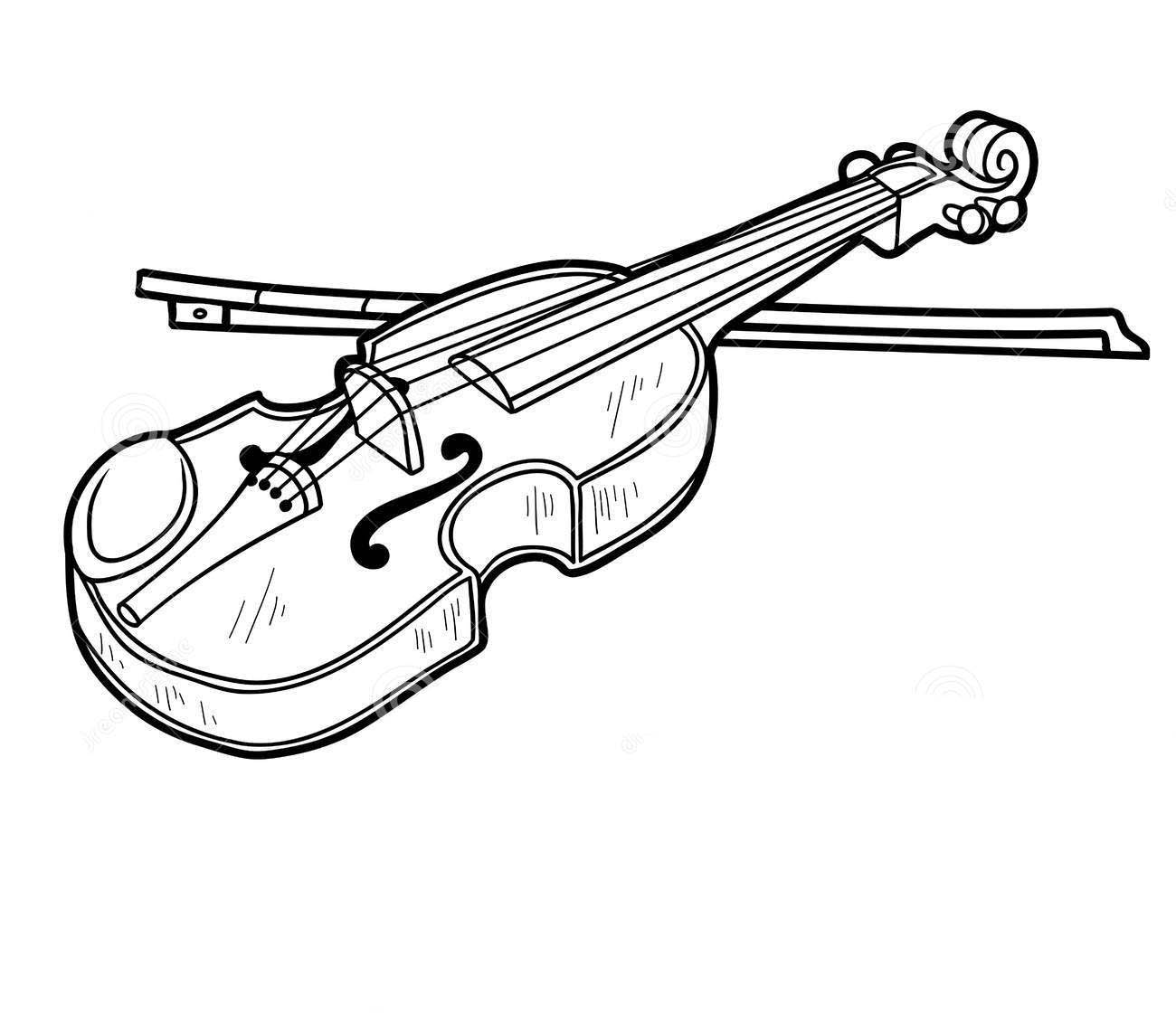 Musical instruments coloring pages to download and print for free