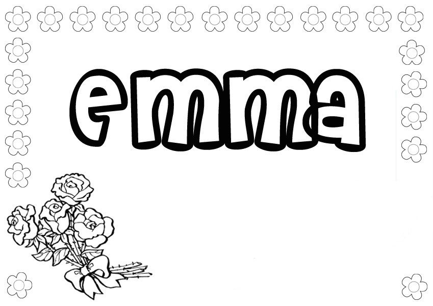 Girls Names coloring pages to and print for free