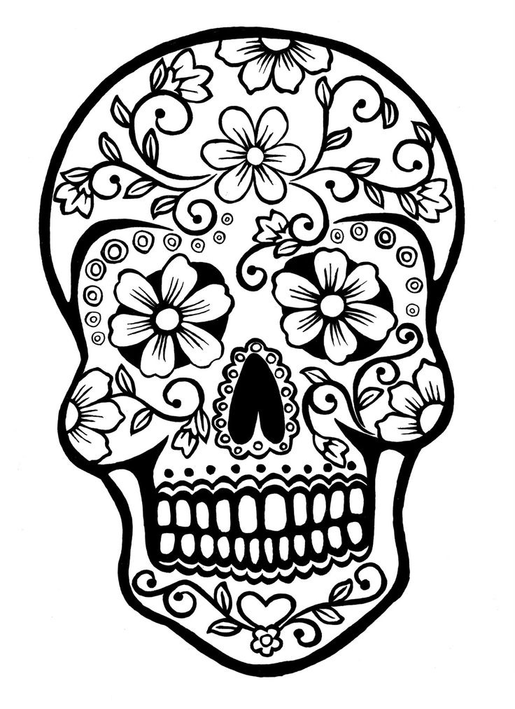 free dia de los muertos coloring pages to print for kids download print and color