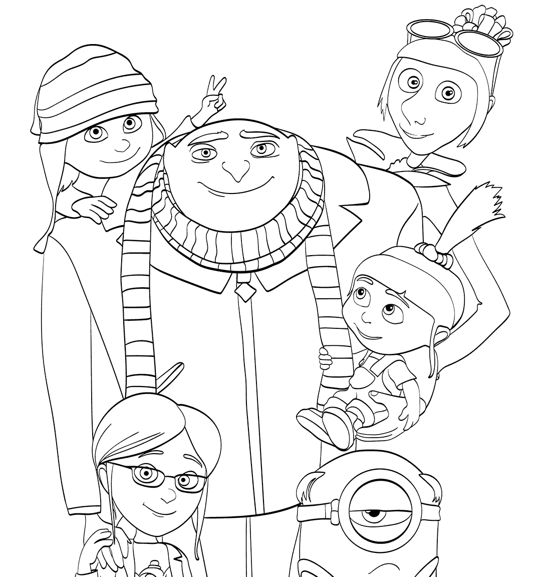 Despicable Me 3 coloring pages to download and print for free