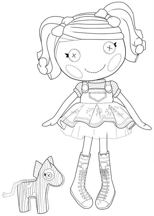 lala oopsies coloring pages   Lalaloopsy coloring pages for girls. to print for free