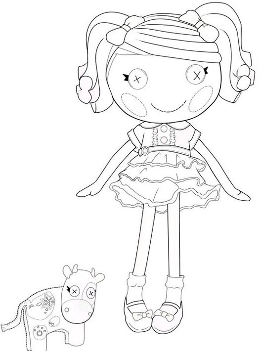 Lalaloopsy coloring pages for girls