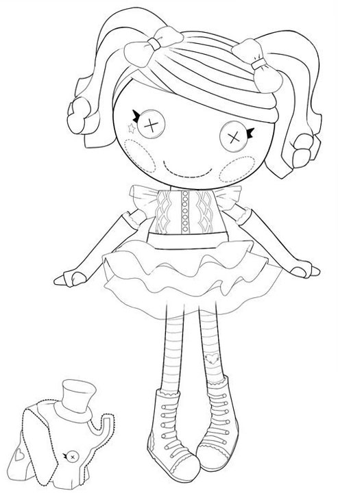 Lalaloopsy Coloring Pages For Girls To Print For Free