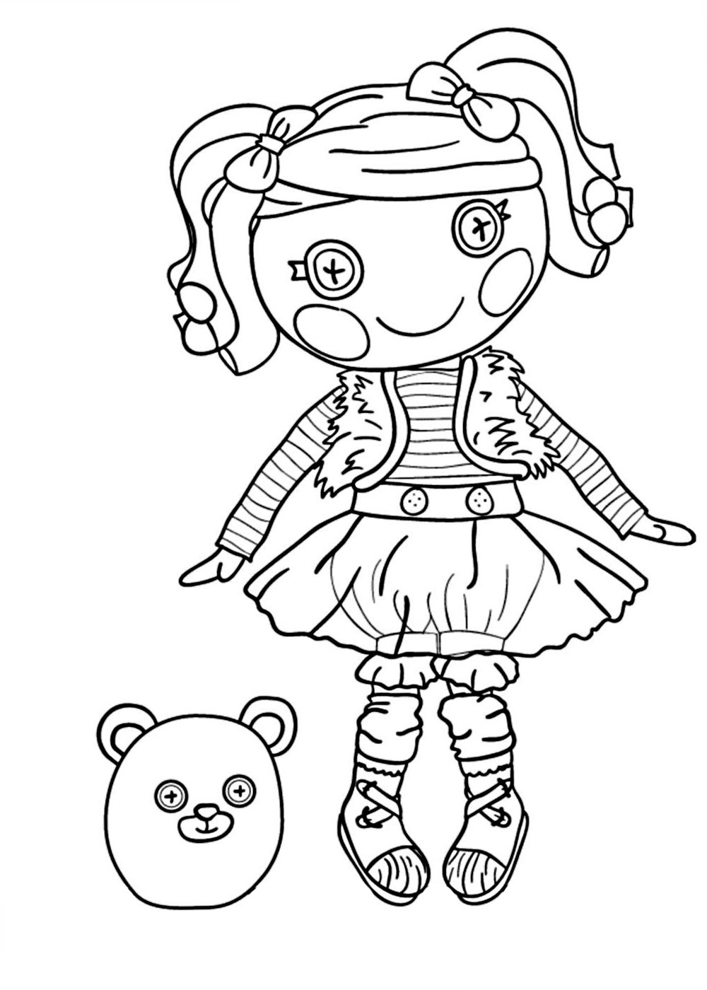 Lalaloopsy coloring pages for girls. to print for free