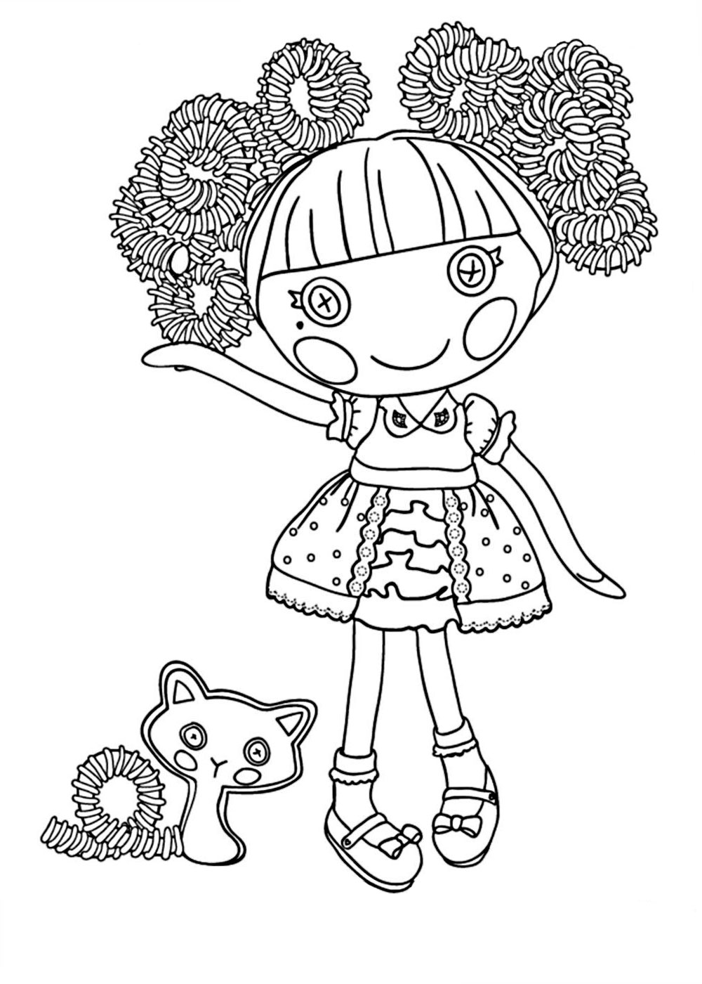 lalaloopsy girl coloring pages coloring pages - Lalaloopsy Coloring Pages