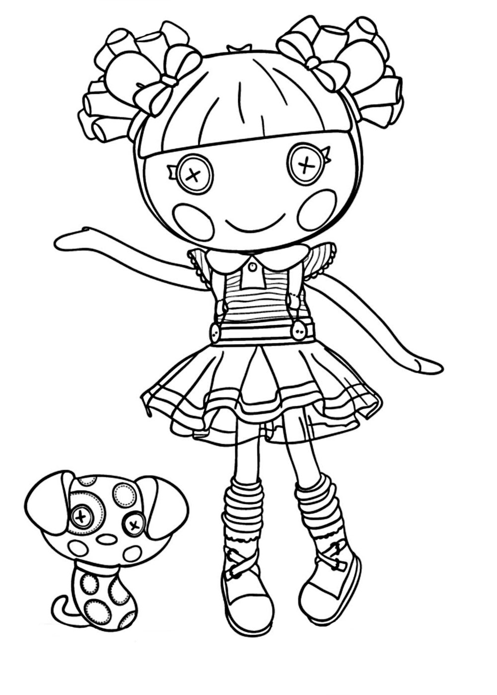 Lalaloopsy Coloring Pages For Girls To Print Free