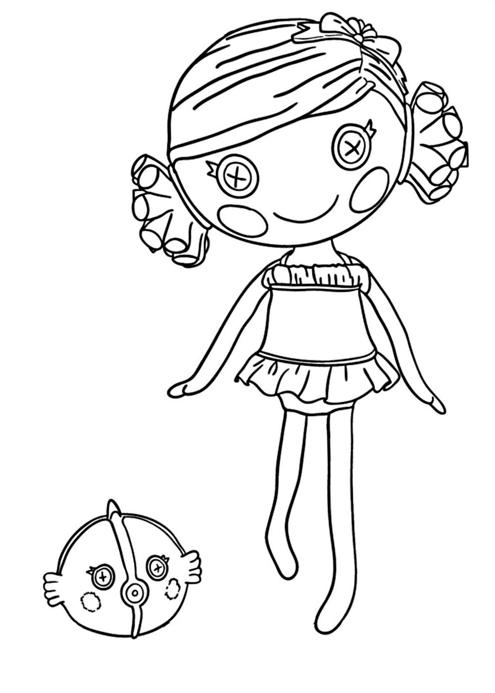 lalaloopsy coloring pages for girls to print for free - Lalaloopsy Coloring Pages