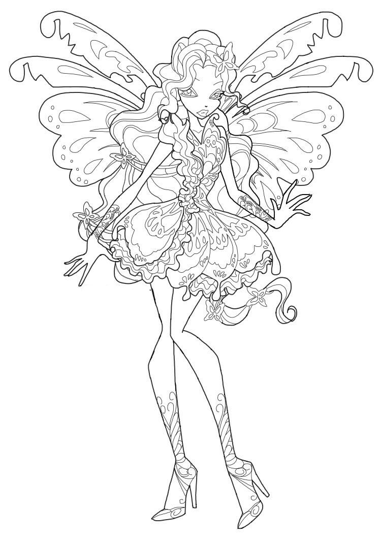winx club tynix coloring pages - photo#19