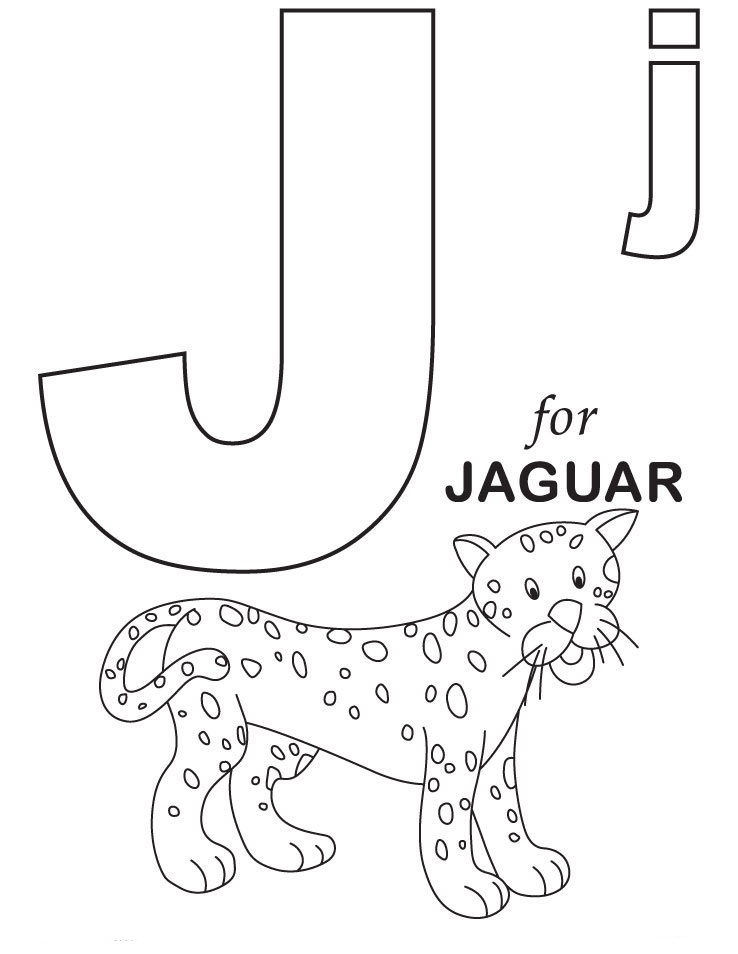 Letter j coloring pages to download and print for free for Free printable alphabet coloring pages for kids