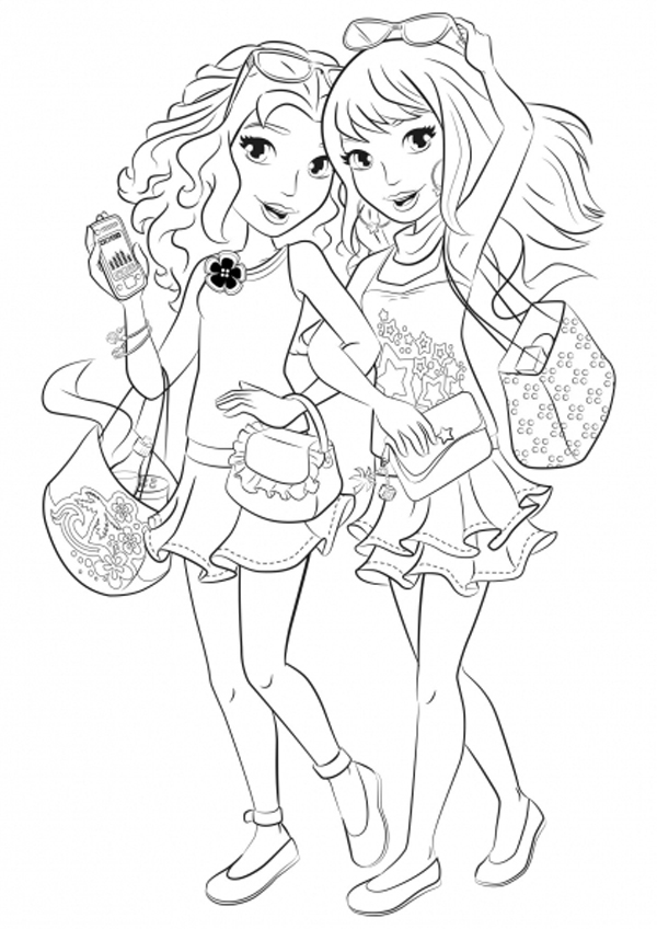 Lego friends coloring pages to download and print for free for Printable lego friends coloring pages