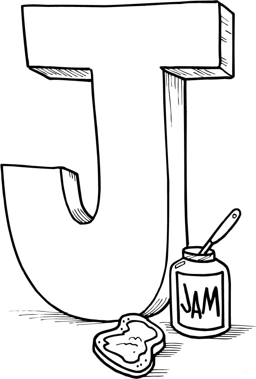 Letter j coloring pages to download and print for free for Alphabet pages to color