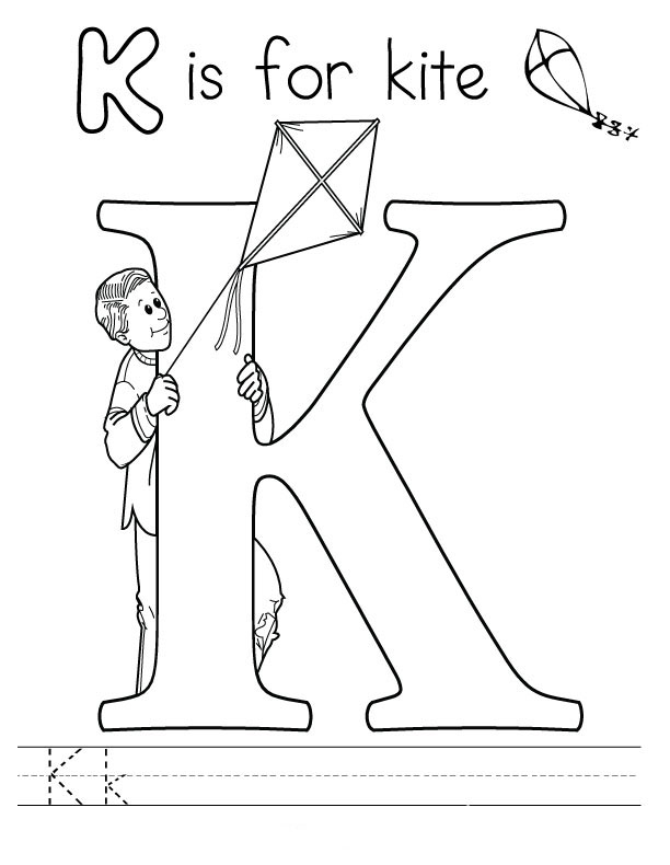 the letter k coloring pages letter k coloring pages to download and print for free