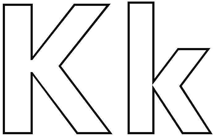 Letter K coloring pages to download