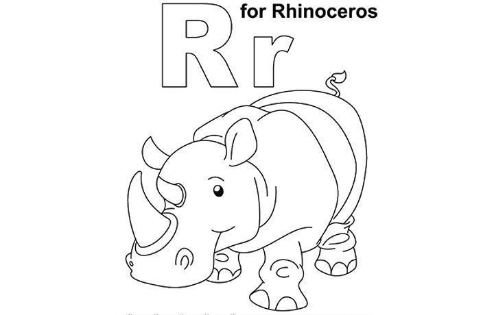 letter r coloring pages preschool - photo#10