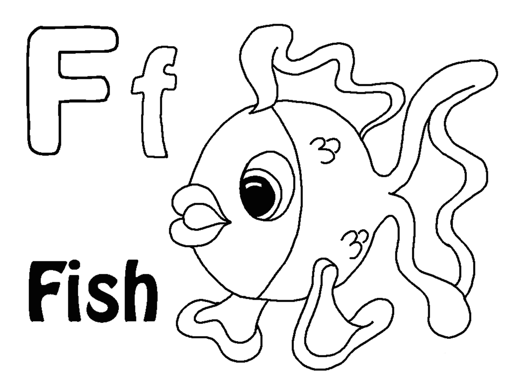 Letter f coloring pages to download and print for free Coloring book letters