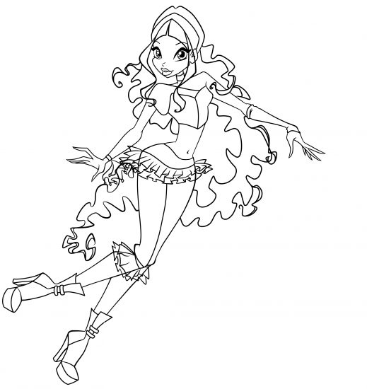 layla winx coloring pages - photo#20