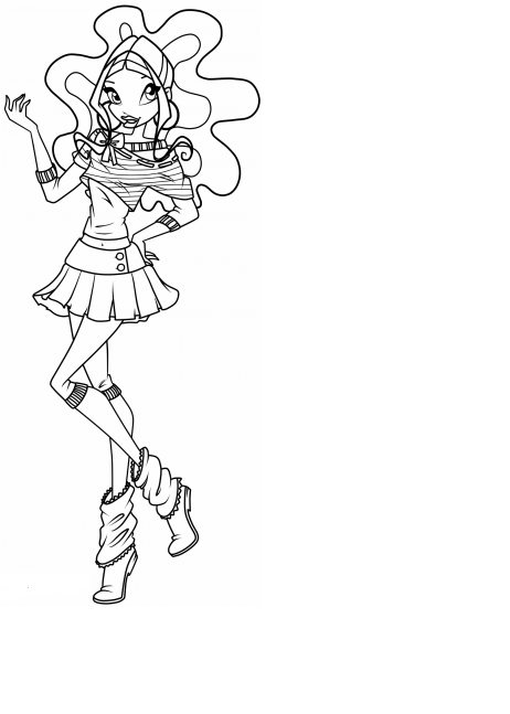 layla winx coloring pages - photo#19