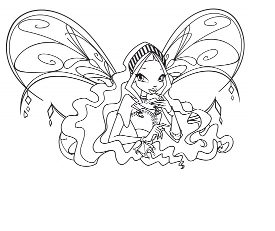 layla winx coloring pages - photo#42