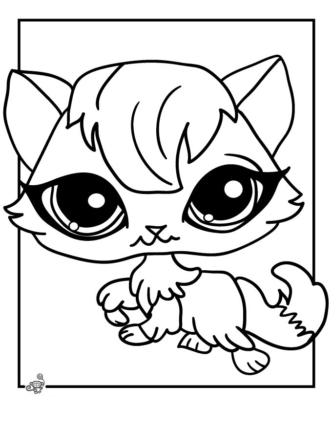 littlest pet shop coloring pages - 4 Year Old Coloring Pages