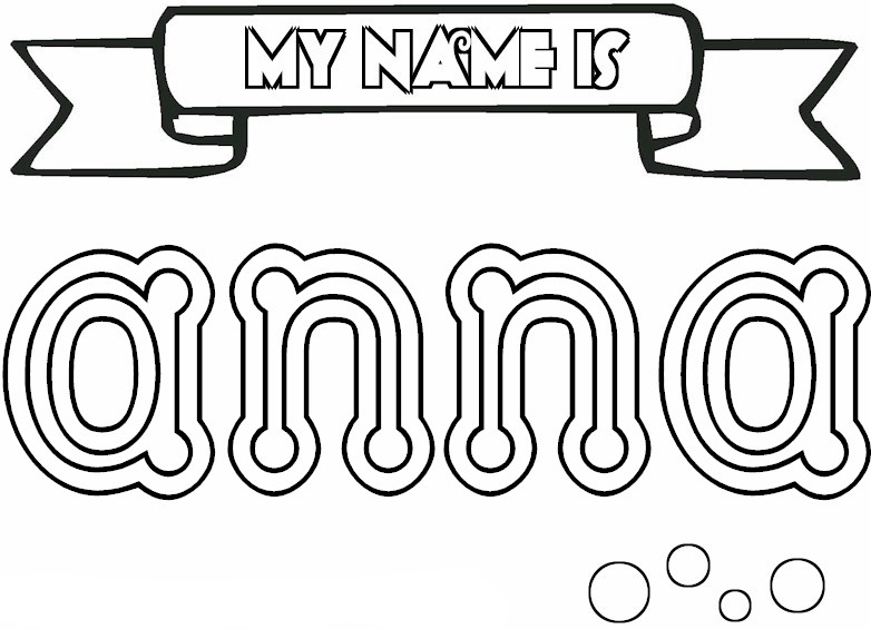 Girls Names coloring pages to download