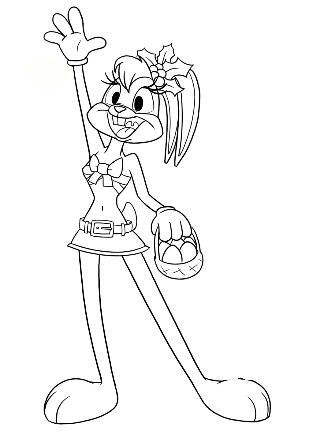 lola bunny coloring pages to download and print for free