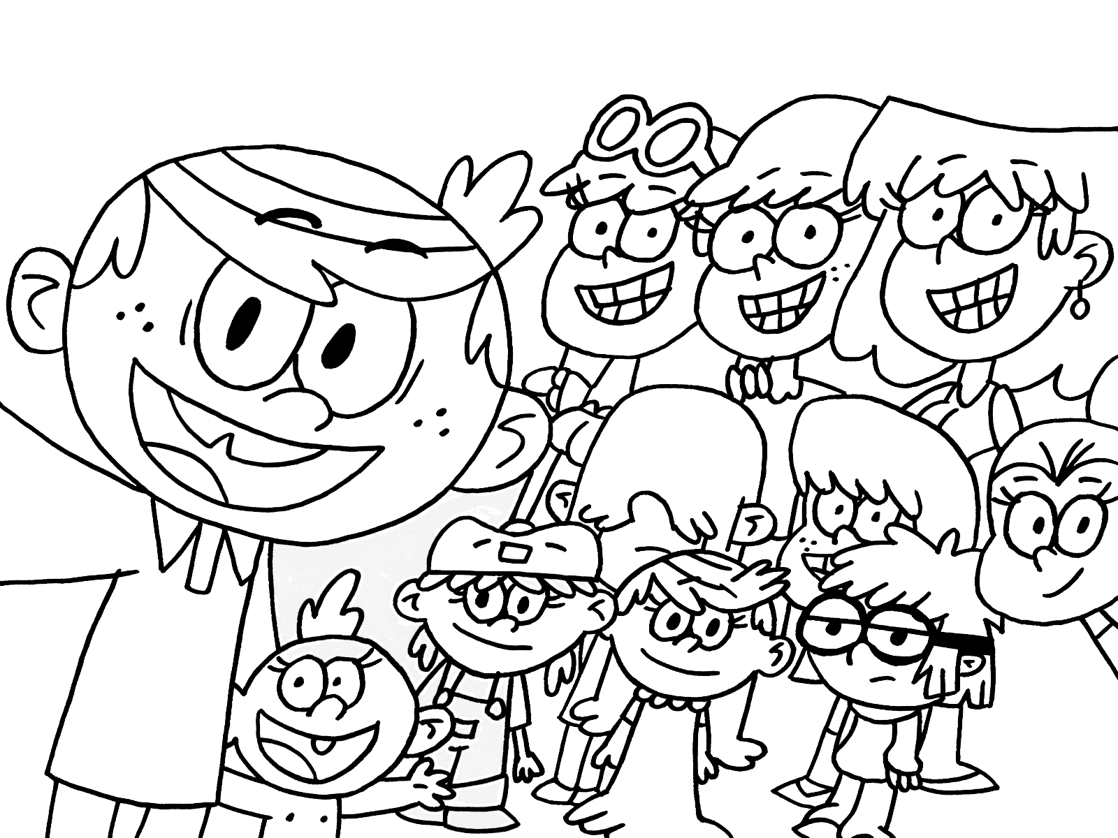 the loud house coloring pages to download and print for free