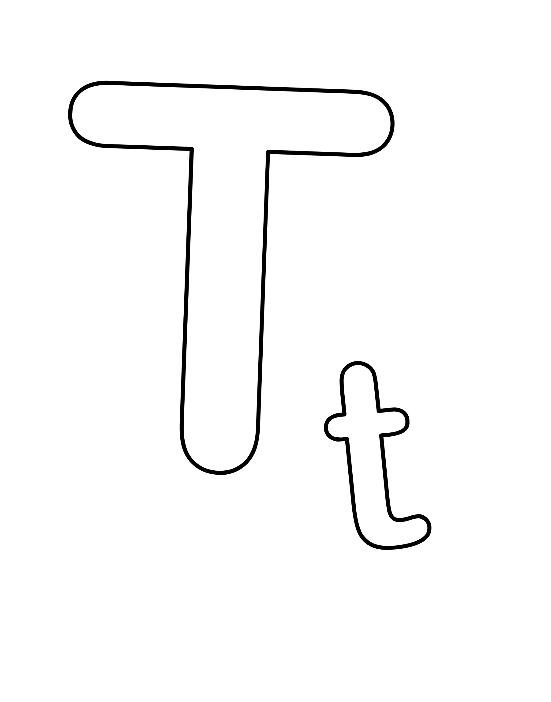 Coloring sheet of the letter t - Free Letter T Coloring Pages To Print For Kids Download Print And Color