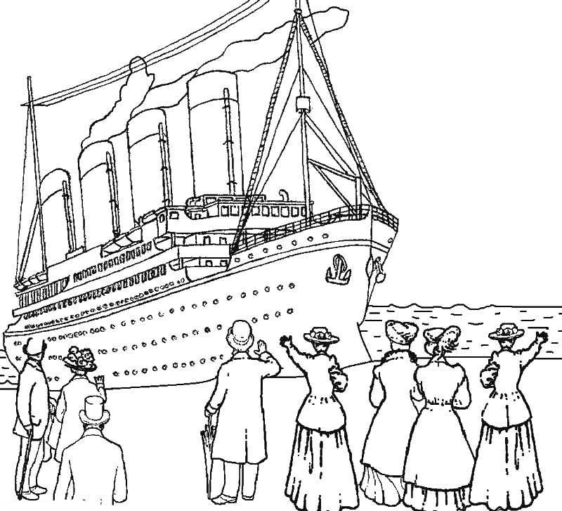 titanic coloring pages for adults | Titanic coloring pages to download and print for free