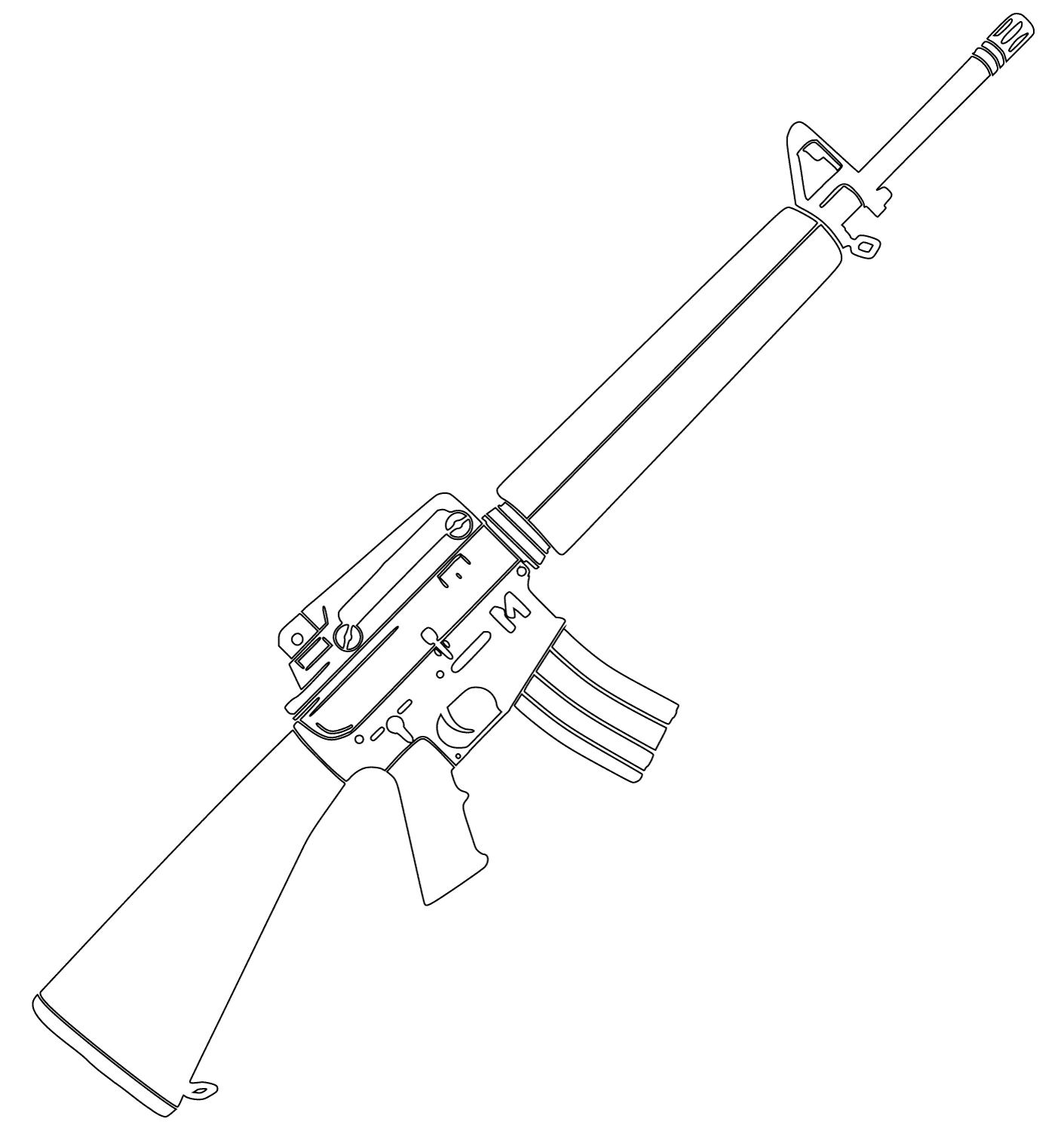 pistol coloring pages to and print for free