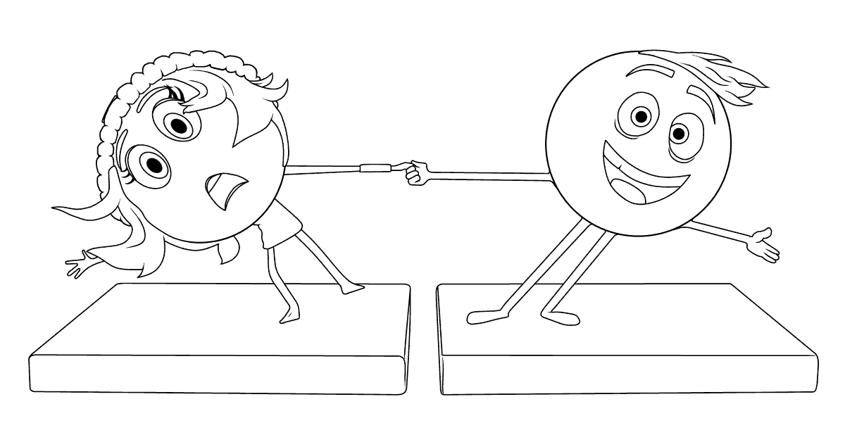 The Emoji Movie coloring page to