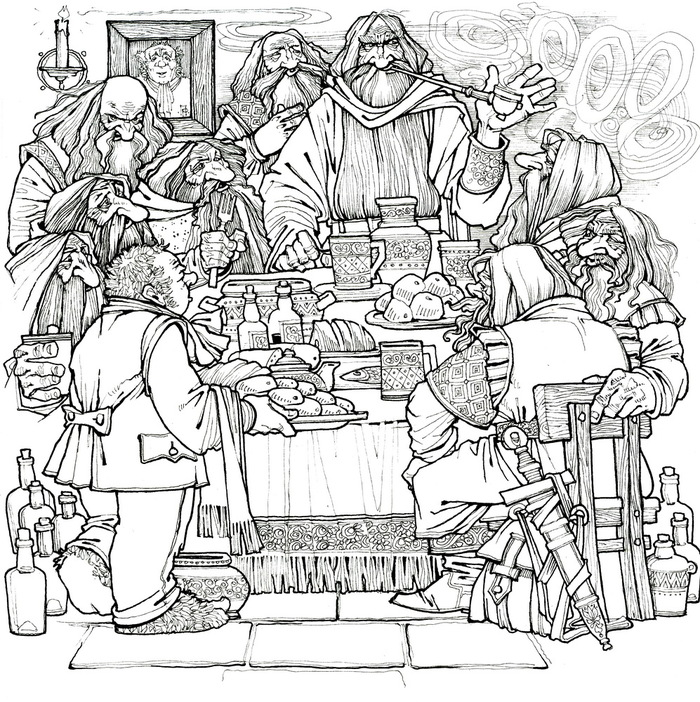 Hobbit Coloring Pages to download and print for free