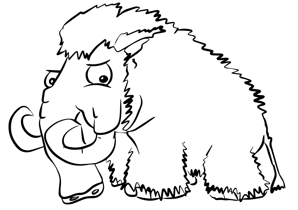 mammoth coloring pages to and print for free