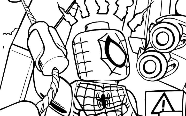Lego Marvel coloring pages to download