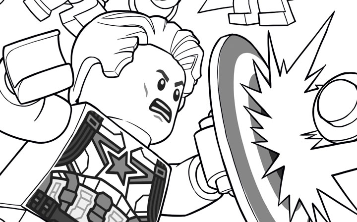 Capitan America Para Colorear: Lego Marvel Coloring Pages To Download And Print For Free