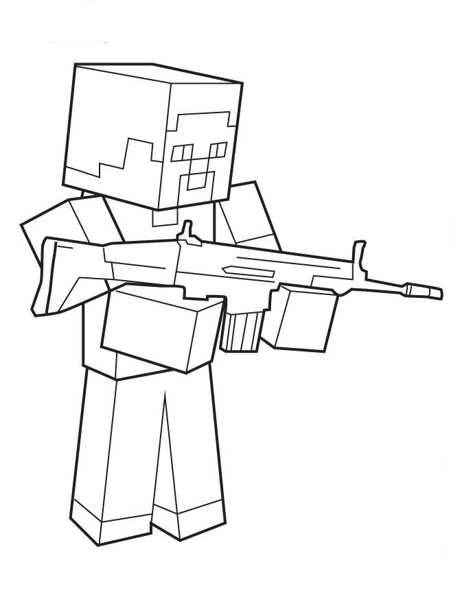 Minecraft coloring pages to download and print for free