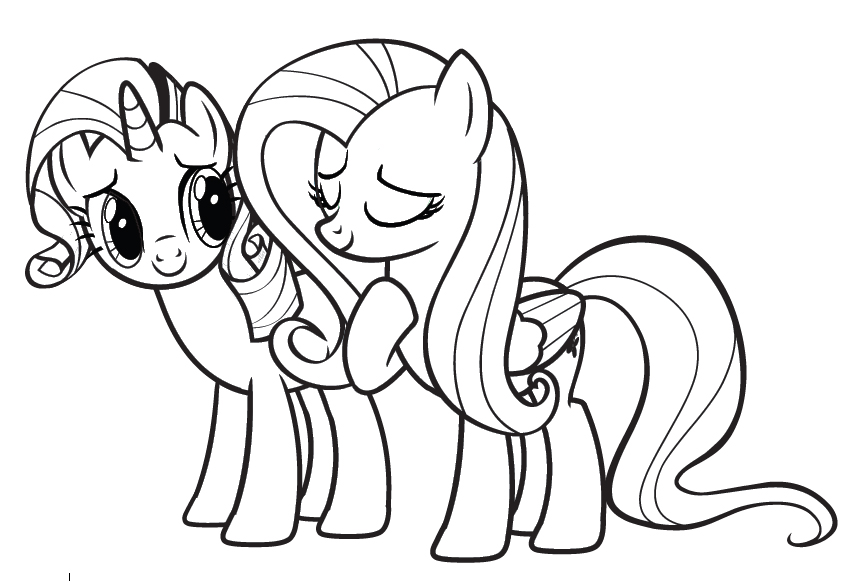 My little pony coloring pages for girls print for free or for My little pony characters coloring pages