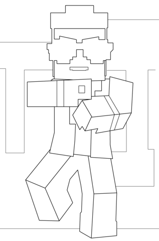 Kleurplaten Minecraft Creeper.Minecraft Coloring Sheets Www Picturesso Com