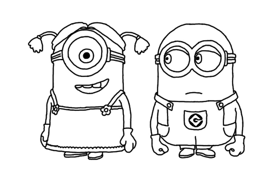 "To Print Minion Coloring Pages From ""Despicable Me"" For Free"