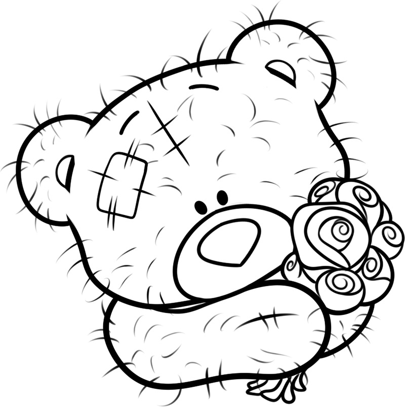 Teddy bear coloring pages for girls to print for free