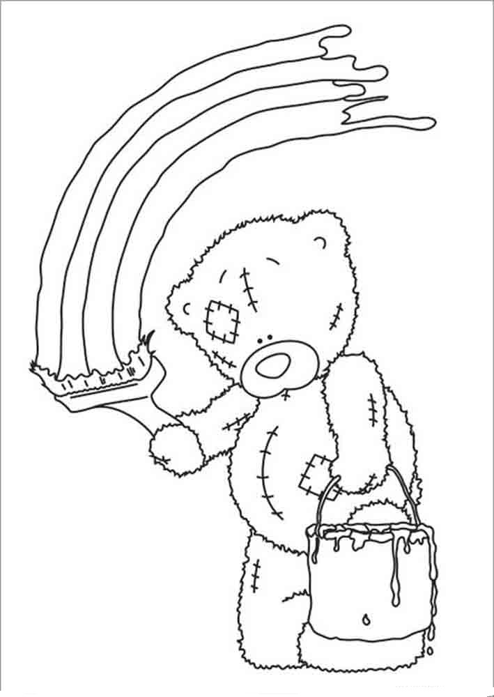 Teddy bear coloring pages for girls to print for free for Teddy coloring pages