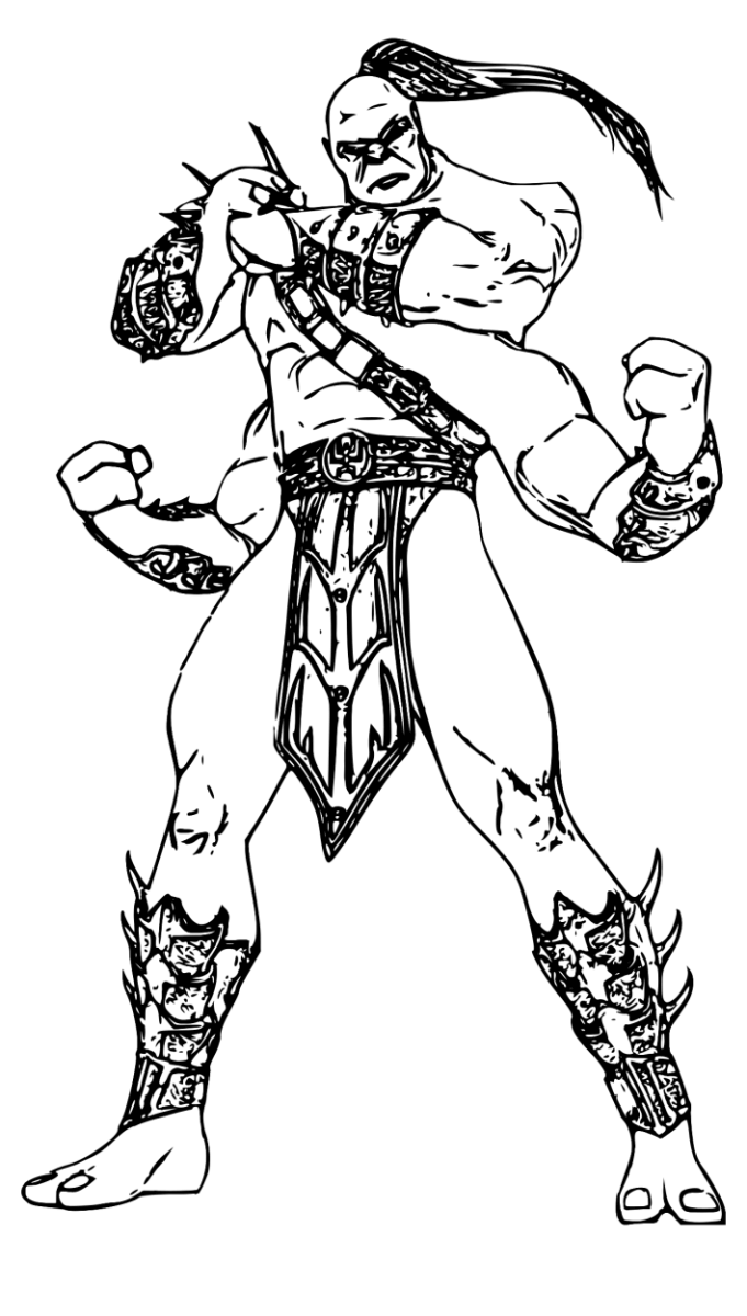 It is a picture of Massif Mkx Scorpion Coloring Page